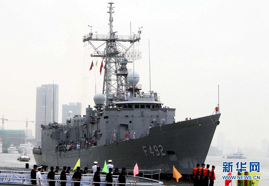 """土耳其海军""""詹姆里克""""号导弹护卫舰访沪_新华网 ..."""