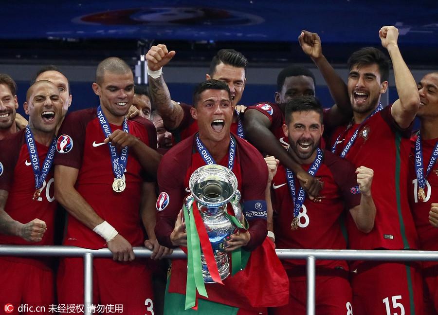 2016法国欧洲杯决赛:葡萄牙1-0法国夺冠