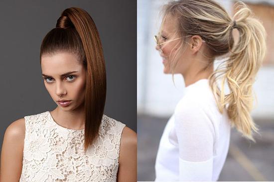 绝一丝不苟,小碎发才能修饰发际线和脸型-对抗高温的清爽高马尾