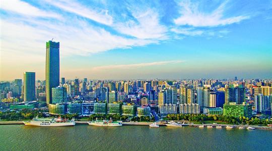 鸟瞰虹口-北外滩白玉兰广场.上海新闻航拍联盟 航拍制作-北外滩 做中