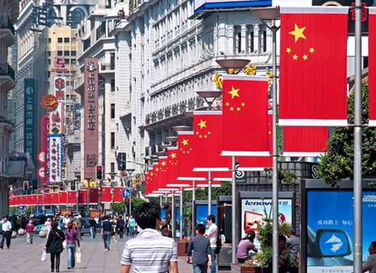 南京东路步行街:热闹繁华-上马沿途景观美翻了 跑起来 遇见不一样的图片