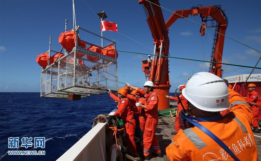 """(图文互动)(3)我国三台""""彩虹鱼""""万米级着陆器成功进行万米海试并采样"""
