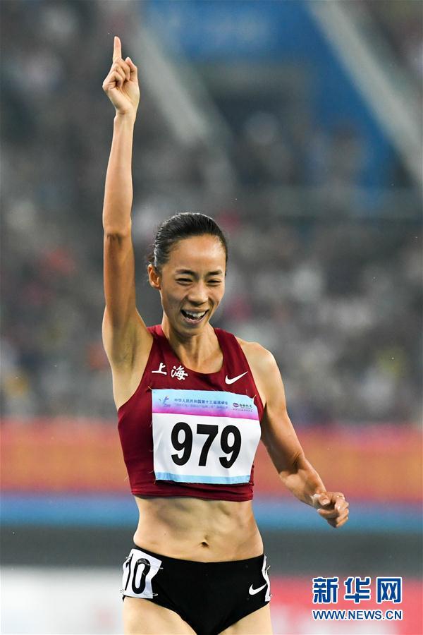 (全运会)(1)田径——女子1500米决赛:上海队选手赵婧夺冠