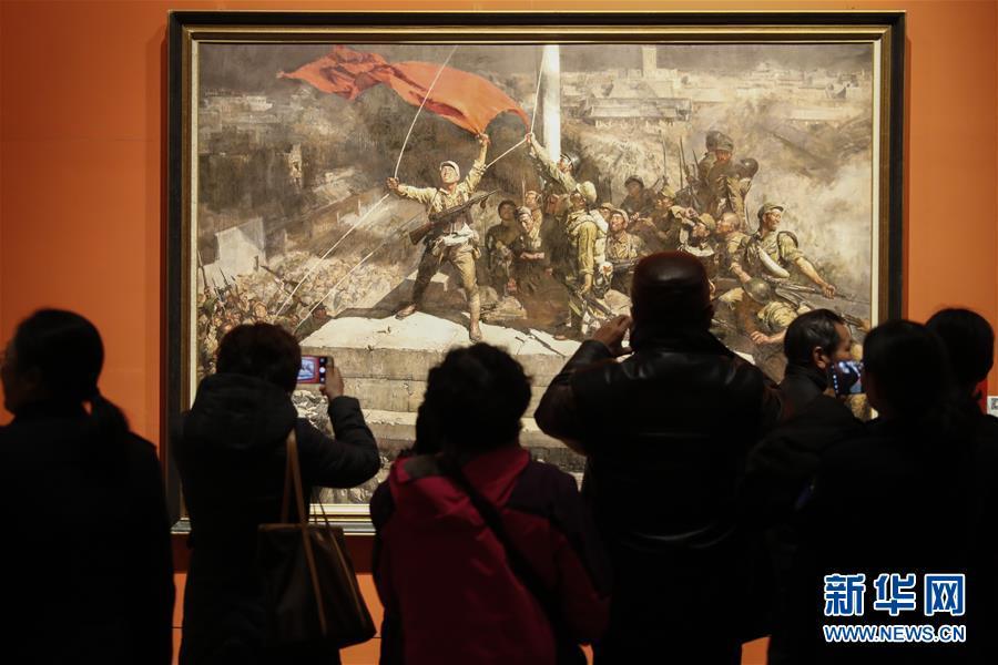 """(文化)(1)""""从石库门到天安门""""美术作品展迎来观展热潮"""
