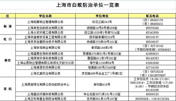 申城白蚁灭治量较去年降三成