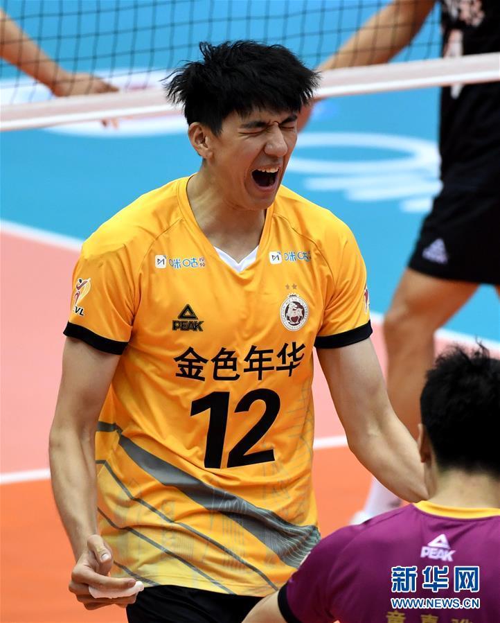 (體育)(12)排球——男排聯賽:上海勝山東