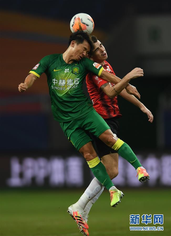 (體育)(3)足球——中超:上海上港勝北京中赫國安