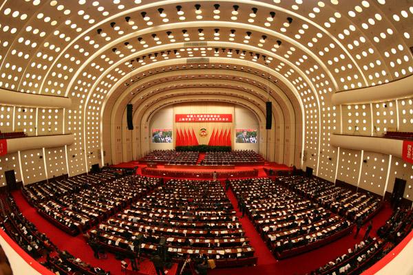 VR:政协上海市十二届五次会议开幕
