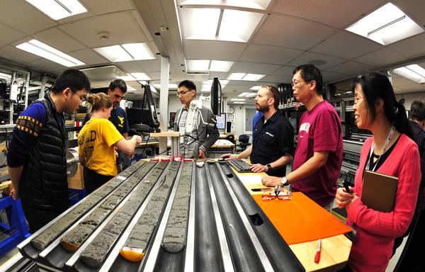 第三次南海大洋钻探的第一管样品