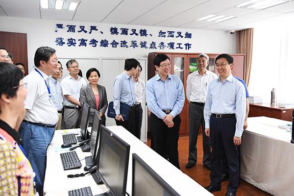 韩正:抓好高考综合改革试点各环节工作