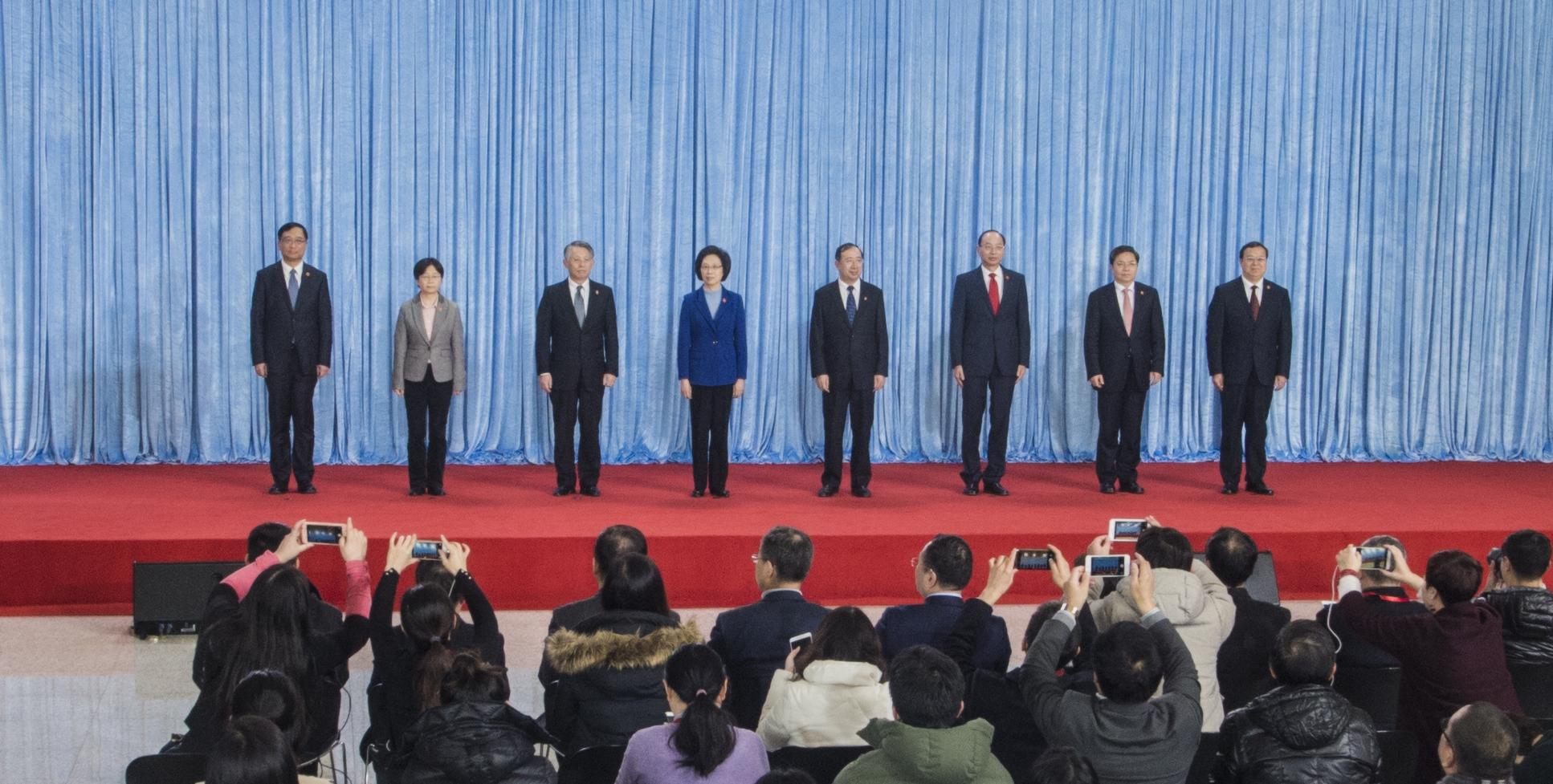 新一届市人大常委会领导班子亮相