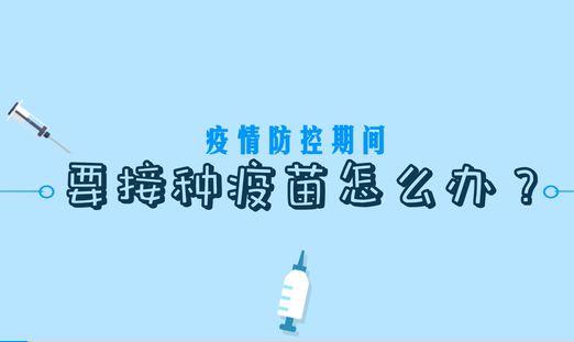 【抗疫答疑小课堂⑮】疫情防控期间 要接种疫苗怎么办?