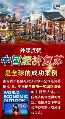 【图解】外媒点赞:中国经济复苏是全球的成功案例