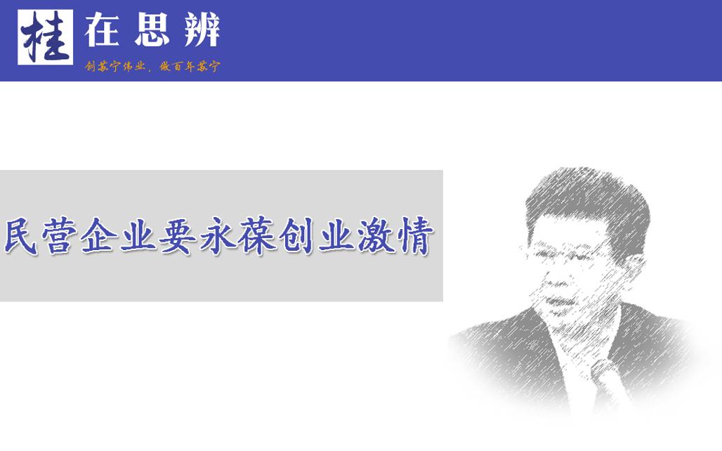 张桂平:民营企业要永葆创业激情