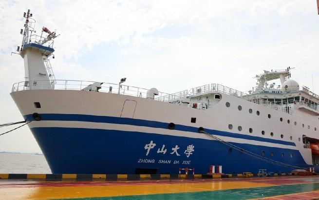 """""""中山大学""""号海洋综合科考实习船在沪交付,预计10月开启首航科考"""