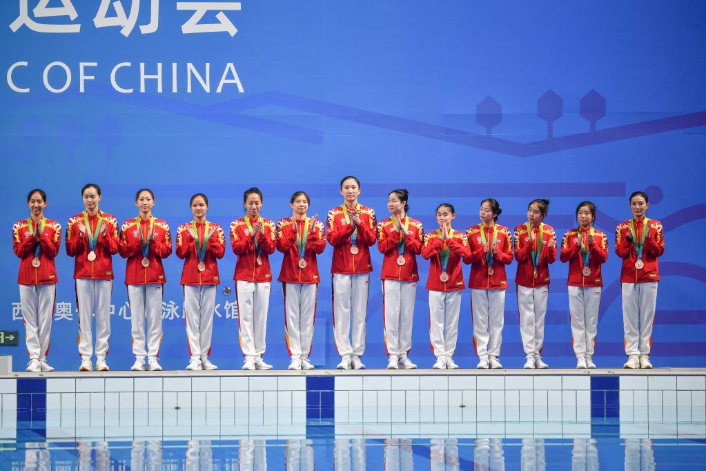 花样游泳——自由组合项目:上海队获季军