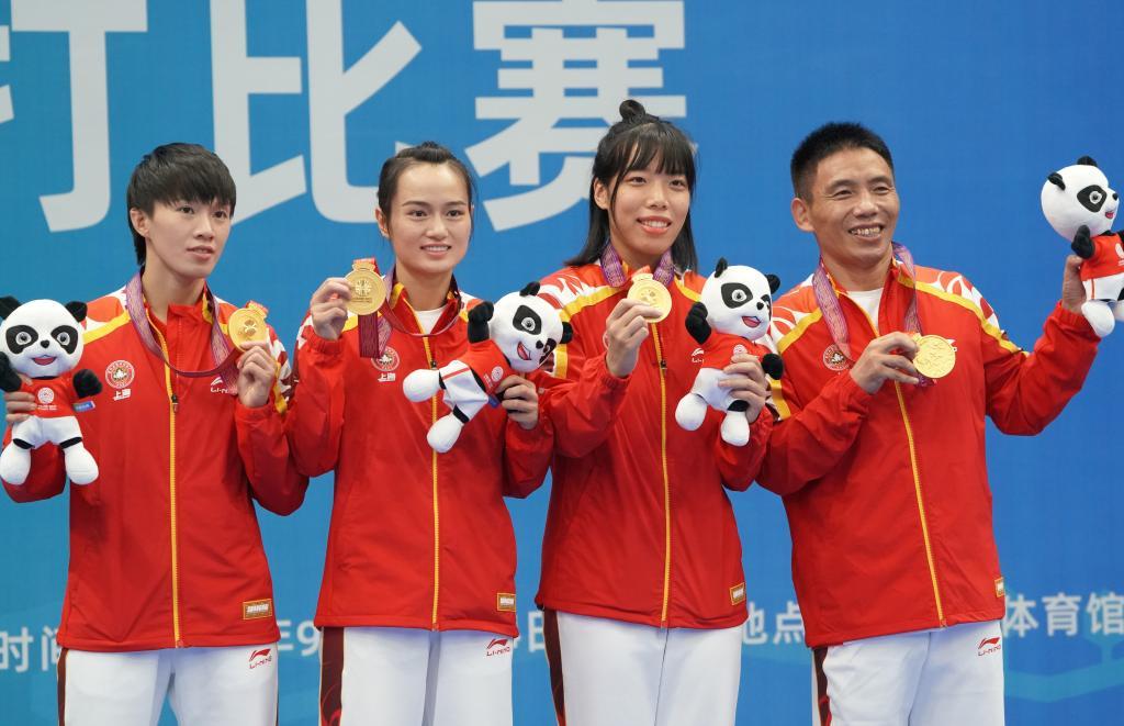 武术散打——女子团体决赛:上海队夺冠