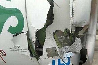 春秋航空A320在浦东机场与拖车碰擦 无人员伤亡