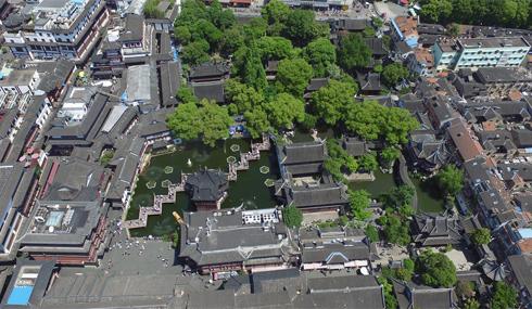 """【""""飞阅""""中国】鸟瞰东南名园之冠——上海豫园"""