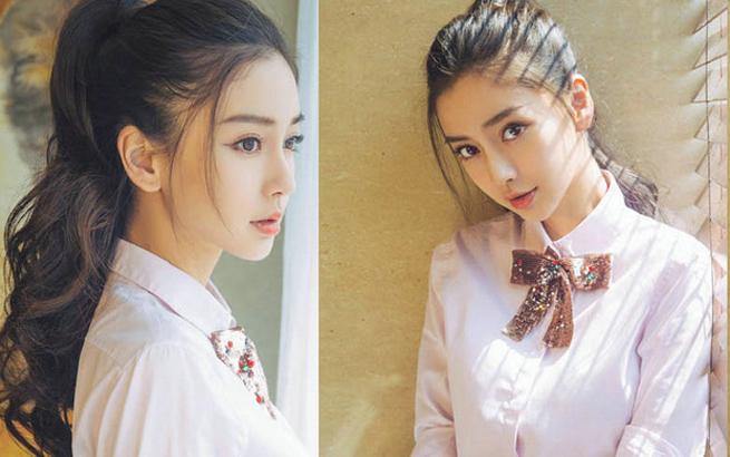 女星马尾造型PK 关晓彤甜美可爱 杨颖活力十足