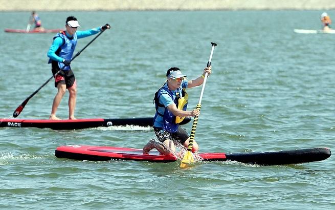 中国桨板黄金联赛三项全能赛在沪举行