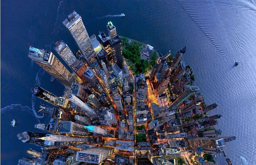 美国摄影师新角度航拍纽约 光怪陆离令人惊叹