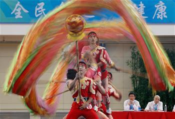 舞龙——自选套路和传统套路比赛落幕