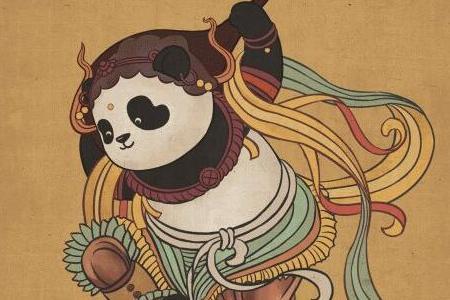 """当熊猫""""滚滚""""遇上中外名画……你想看它反弹琵琶吗"""