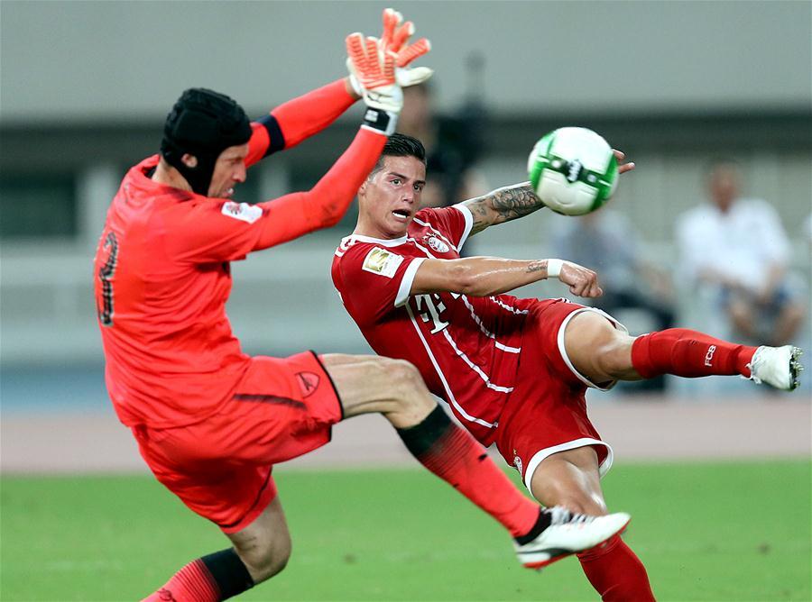 国际冠军杯:阿森纳3比2胜拜仁慕尼黑