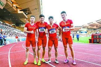38秒19!中国男队钻石联赛夺冠