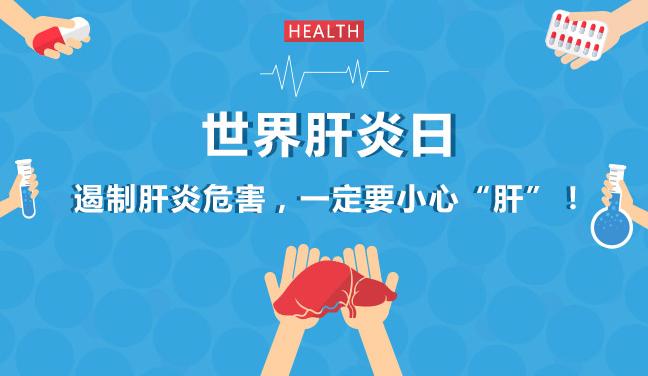 """世界肝炎日丨遏制肝炎危害,一定要小心""""肝""""!"""