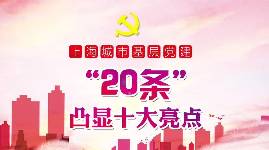 """上海城市基層黨建""""20條""""凸顯十大亮點"""