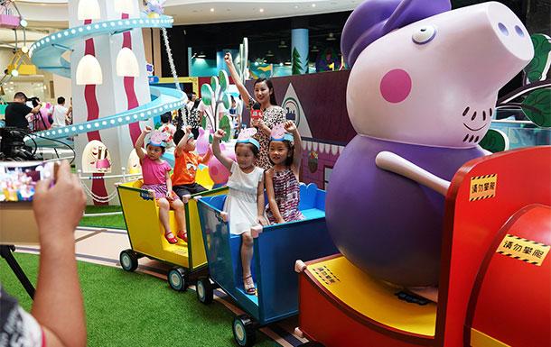 小猪佩奇主题展在上海揭幕