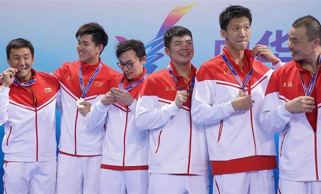 全运会水球——上海男队夺冠