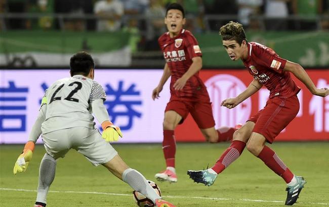 中超:北京中赫国安对阵上海上港