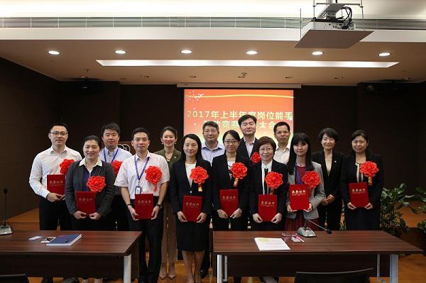 进出口银行上海分行开展岗位能手劳动竞赛活动