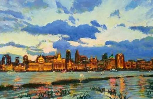 油画讲述外滩的百年变迁,见证上海记忆和未来