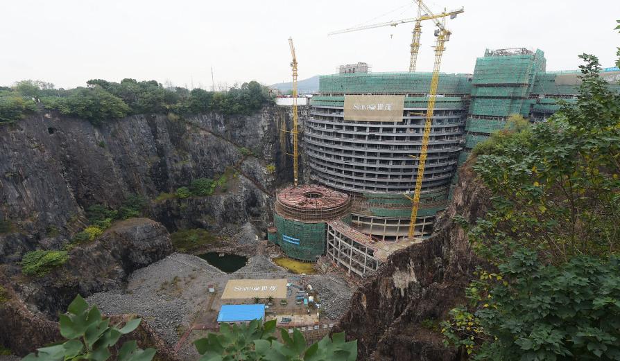 """上海""""深坑酒店""""内部露真容预计明年开业"""