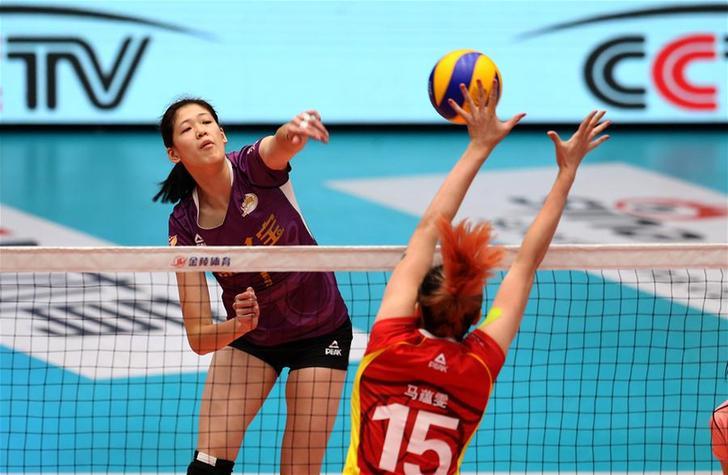 女排联赛:天津胜上海