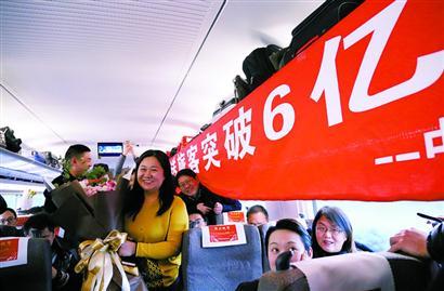 長三角鐵路年發送旅客首次突破6億人次
