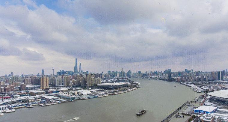 雪后初霁,航拍申城