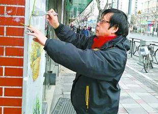 春节里忙碌的城市网格监督员 每天步行15公里