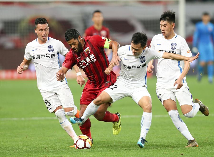 足球——中超:上海上港平天津泰达