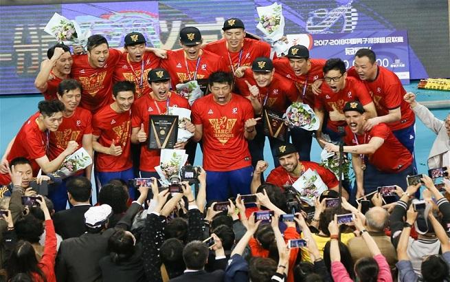 排球——男排超级联赛:上海队夺冠