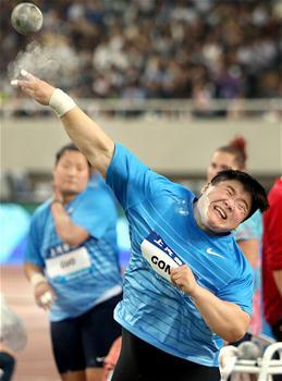田径——钻石联赛(上海站):巩立姣夺得女子铅球冠军