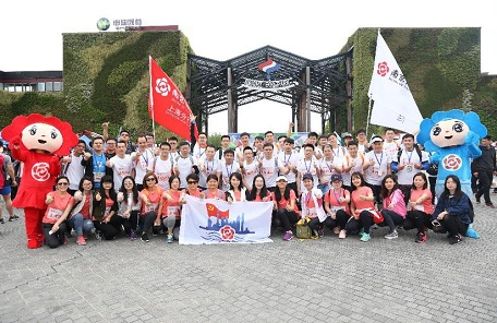 南京银行人携手同行为爱暴走50km