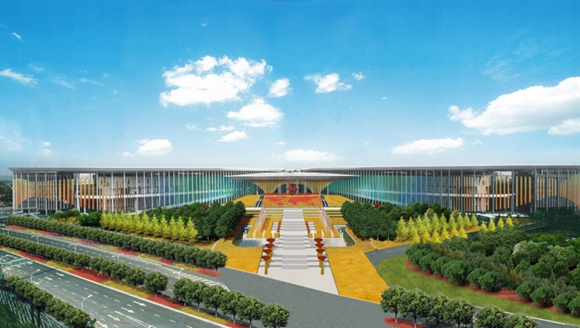 揭秘:进口博览会主会场绘出浓浓中国风
