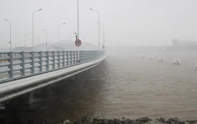 """台风""""安比""""在上海崇明登陆"""