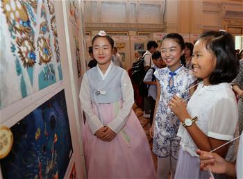 中日韩儿童共绘未来