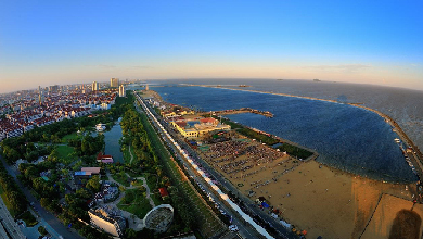 鳥瞰城市沙灘